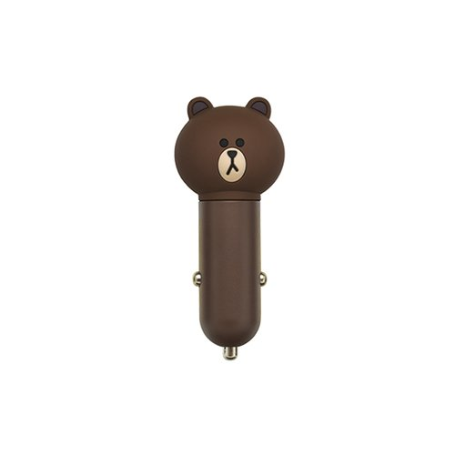 Автомобильное зарядное устройство (USB, Line Friends – Brown)