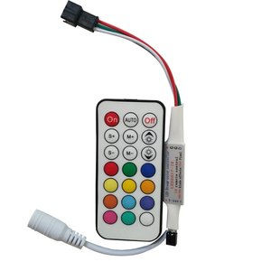 Контроллер с ИК пультом LED2017-IR (RGB, WS2811, WS2812, WS2813, 5-24 В)