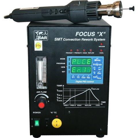 """Програмована термоповітряна паяльна станція BOKAR Focus """"X"""" з вакуумним екстрактором"""