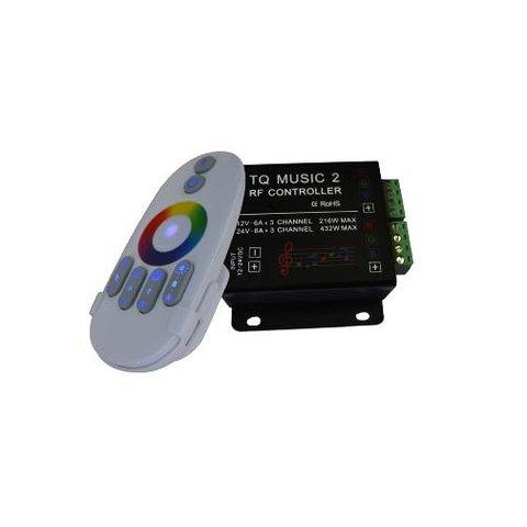 Контролер звуковий з безпровідним пультом HTL 033 RGB, 5050, 3528, 216 Вт