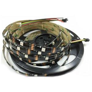 Світлодіодна стрічка RGB SMD5050, WS2813 (чорна, з управлінням, IP65, 5 В, 30 діодів/м, 5 м)