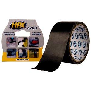 Стрічка армована одностороння HPX 6200, 50 мм, 10 м, чорна