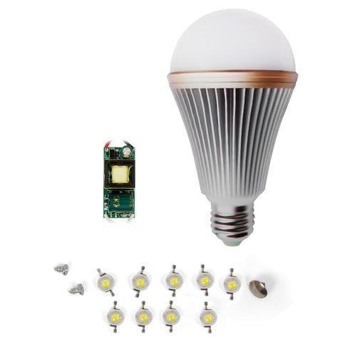 LED Light Bulb DIY Kit SQ Q24 E27 9 W – cold white