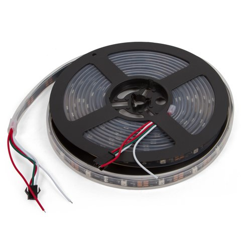 Tira de luces LED  SMD5050, WS2812B (con controles, IP67, 5 V, 30 diodos LED/m, 5 m)