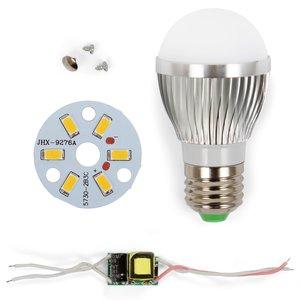Juego de piezas para armar lámpara LED regulable SQ-Q01 5730 3 W (luz blanca cálida, E27)