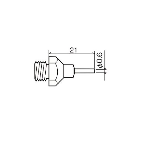 Hot Air Nozzle Goot XNH 06 for Goot XHP 110